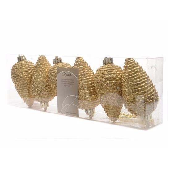 Gouden Glitter Dennenappels Kerstballen Kerst Megastore Schiedam